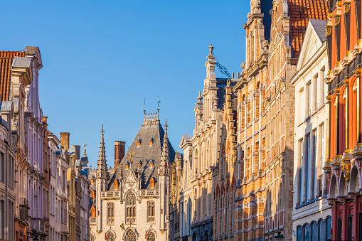 West Flanders「Belgium, Flanders, Bruges, row of houses, Steenstraat」:スマホ壁紙(18)