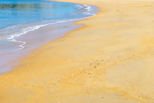 ビーチ「わずか海と砂浜」:スマホ壁紙(4)
