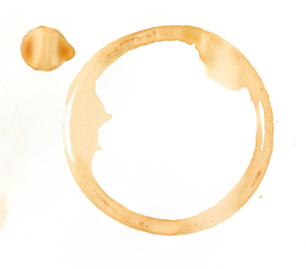 A coffee stain on a white background:スマホ壁紙(壁紙.com)