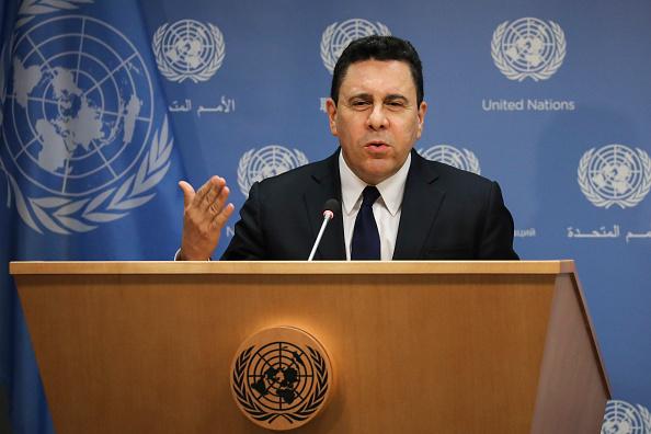 United Nations Building「Venezuelan Ambassador To The U.N. Samuel Moncada Holds Press Briefing」:写真・画像(5)[壁紙.com]