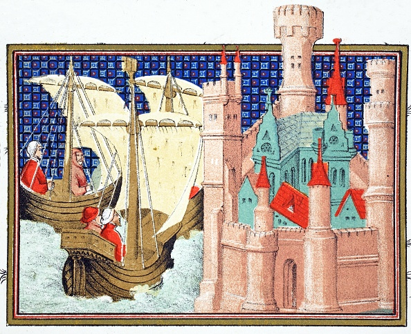 Circa 14th Century「The Duke Of Salisbury Arriving At Conway Castle From Ireland」:写真・画像(8)[壁紙.com]
