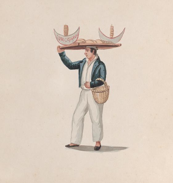 Tortilla - Flatbread「A Tortilla Vendor Balancing A Tray On His Head」:写真・画像(7)[壁紙.com]
