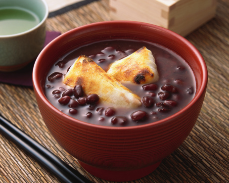 festive food for the New Year「Sweet red beans」:スマホ壁紙(13)