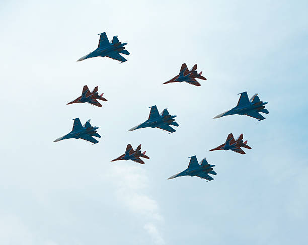 MiG-29 and Su-27, flying for Victory Day:スマホ壁紙(壁紙.com)