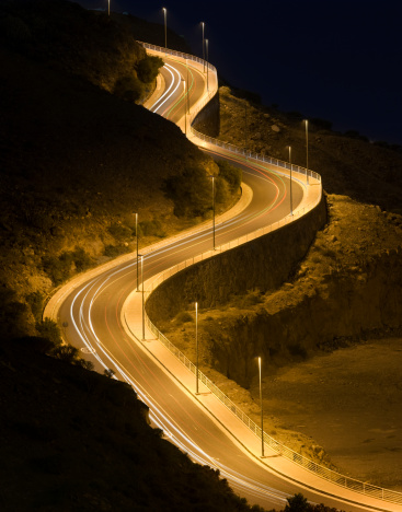 Boulevard「Long Exposure of Car Lights on Winding Cliffside Road」:スマホ壁紙(10)