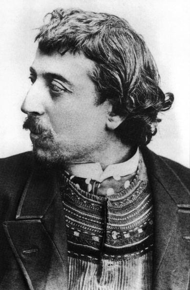 Portrait「Paul Gauguin (1848-1903) french painter here in Copenhague in march 1891 with a breton cardigan, selfportrait dedicated to Carriere」:写真・画像(4)[壁紙.com]