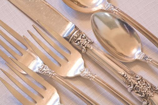 Silverware「fine dining elegant antique silverware place setting」:スマホ壁紙(8)