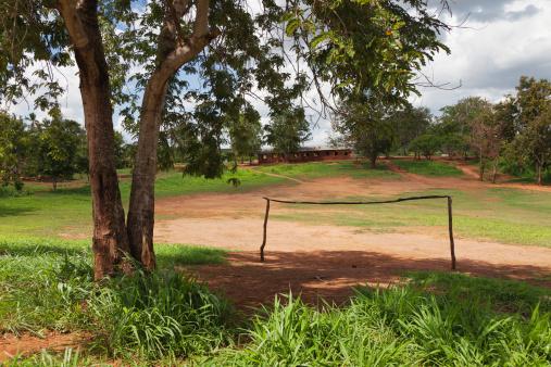 Goal Post「A natural football field in Africa.」:スマホ壁紙(14)