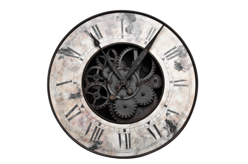 Gear「Old fashioned clock with visible center gears」:スマホ壁紙(3)