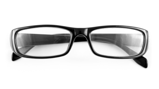 Eyesight「Pair of black glasses on a white background」:スマホ壁紙(11)