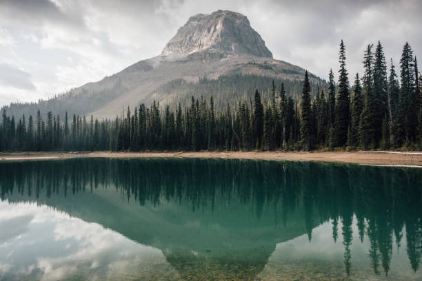 Canada, British Columbia, Yoho Lake, Yoho National Park, Wapta Mountain, Rocky Mountains:スマホ壁紙(壁紙.com)