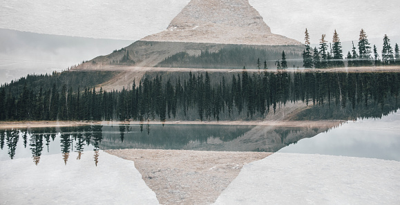 Yoho National Park「Canada, British Columbia, Yoho Lake, Yoho National Park, Wapta Mountain, Rocky Mountains, multiple exposure」:スマホ壁紙(0)