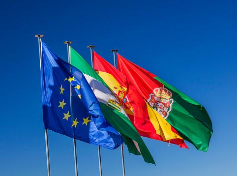 star sky「Flags of Granada, Spain and European Union, Granada, Andalusia, Spain」:スマホ壁紙(6)