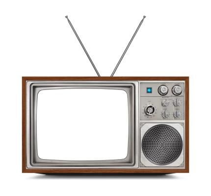 Push Button「Stylish Vintage Television - White Screen」:スマホ壁紙(14)
