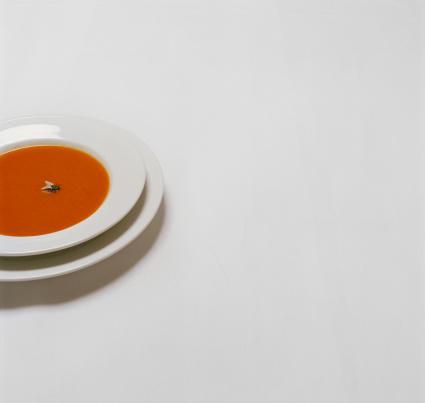 質感「Bowl of soup containing fly」:スマホ壁紙(7)