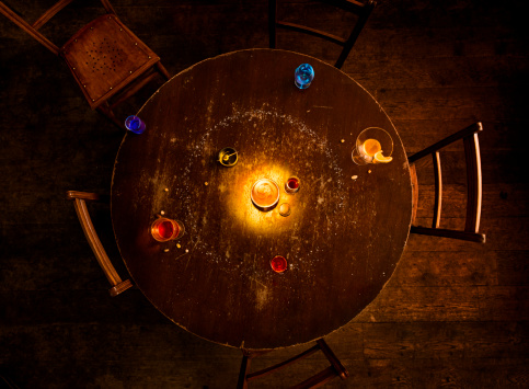 Solar System「solar system model on pub table」:スマホ壁紙(1)