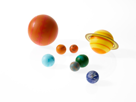 Solar System「Solar system planets on white background」:スマホ壁紙(5)