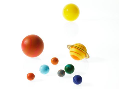 Solar System「Solar system planets on white background」:スマホ壁紙(14)