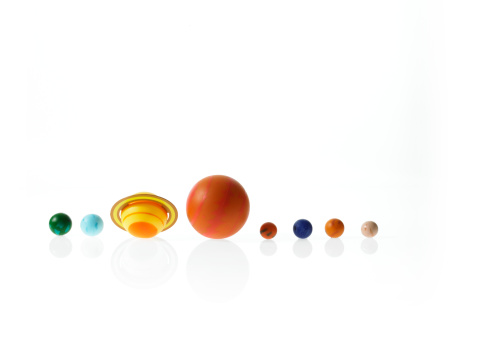 Solar System「Solar system planets on white background」:スマホ壁紙(7)