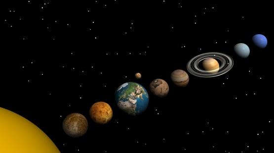 Solar System「Solar system in the night」:スマホ壁紙(8)