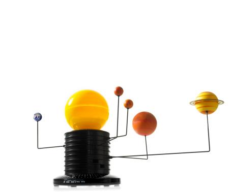 Solar System「Solar system model on white background」:スマホ壁紙(13)