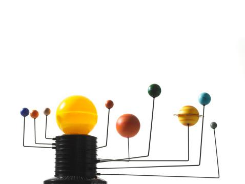 Solar System「Solar system model on white background」:スマホ壁紙(9)