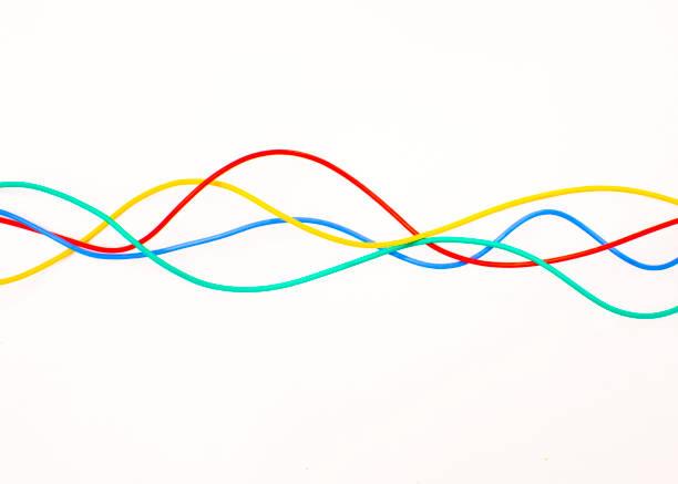 Waves of multi colored wire:スマホ壁紙(壁紙.com)