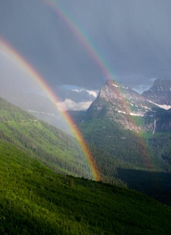 Double Rainbow「Double Rainbow in Glacier National Park, Montana」:スマホ壁紙(16)