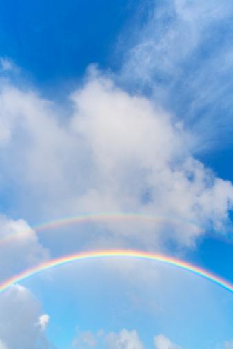 Double Rainbow「Double Rainbow in the Blue Sky」:スマホ壁紙(15)
