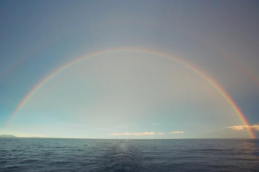 Double Rainbow「Double rainbow over sea」:スマホ壁紙(4)