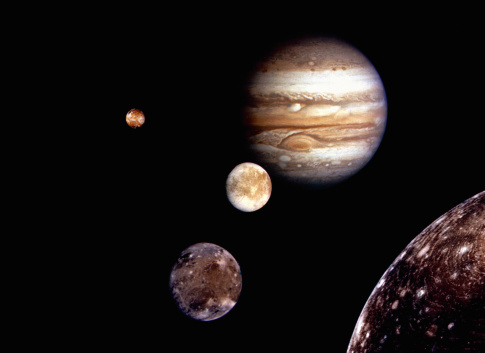 Solar System「Jupiter and its moons」:スマホ壁紙(1)