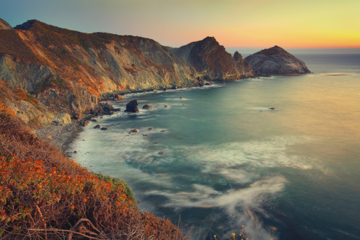 California State Route 1「Big Sur sunset」:スマホ壁紙(14)