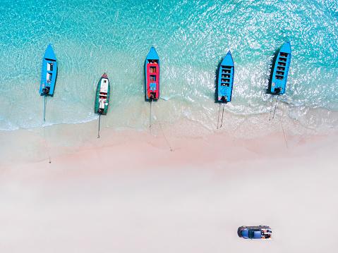豪華 ビーチ「ボートとバラの楽園ビーチ」:スマホ壁紙(19)