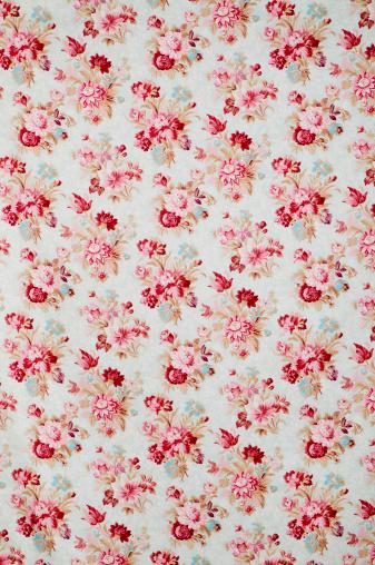 Floral Pattern「Madeline Wide Antique Floral Fabric」:スマホ壁紙(7)