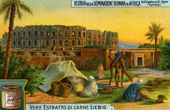 Chromolithograph「Ampitheatre at El Djem, Tunisia.」:写真・画像(4)[壁紙.com]