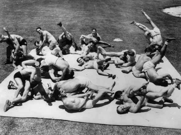 Photograph「Wrestling training for the olympic games, Photograph, America, Around 1930」:写真・画像(11)[壁紙.com]