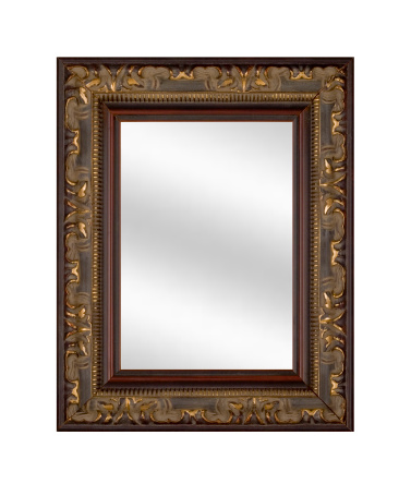 Funky「Mirror in Picture Frame, Elegant and Fancy, White Isolated」:スマホ壁紙(12)