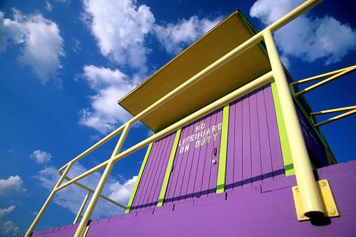 Miami Beach「Art deco lifeguard station, Miami, South Beach, FL」:スマホ壁紙(17)