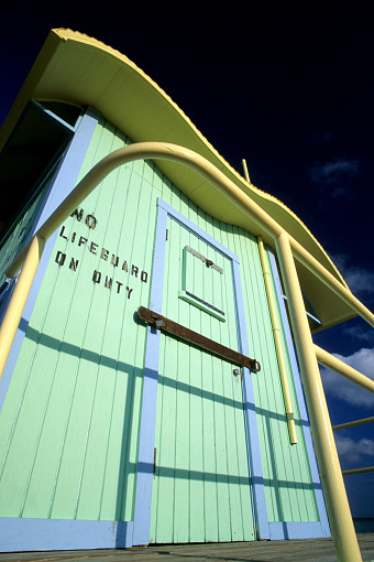 Miami Beach「Art deco lifeguard station, Miami, South Beach, FL」:スマホ壁紙(15)