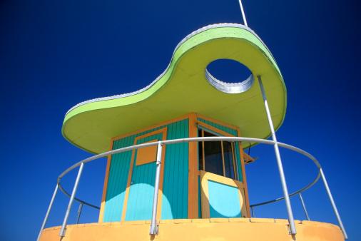 Miami Beach「Art Deco Lifeguard Station, South Beach, Miami, FL」:スマホ壁紙(2)