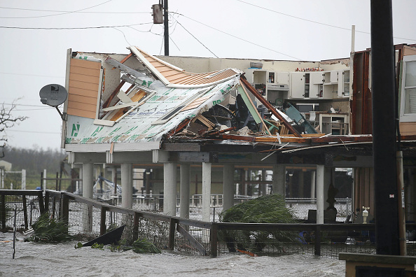 Damaged「Hurricane Harvey Slams Into Texas Gulf Coast」:写真・画像(17)[壁紙.com]