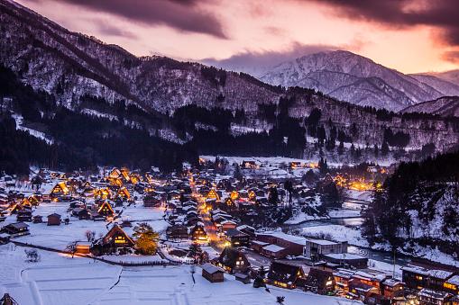 UNESCO「Shirakawago Village in Winter」:スマホ壁紙(3)