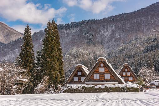Takayama City「Shirakawa-go winter scene」:スマホ壁紙(18)