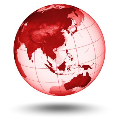 Planet Earth「Red Globe - Asian Eastern Hemisphere」:スマホ壁紙(14)