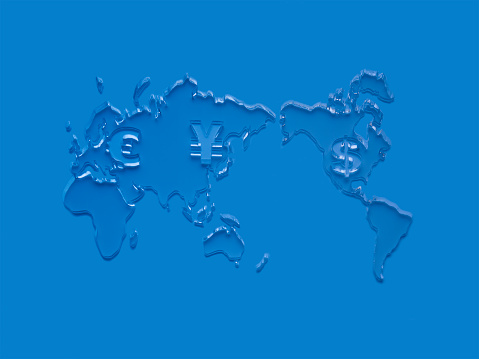Map of the world「world map with currency sign.」:スマホ壁紙(8)
