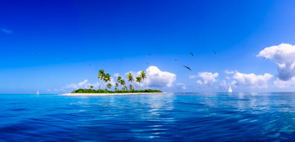 Sailboat「Tropical fantasy island in the Caribbean Sea」:スマホ壁紙(7)