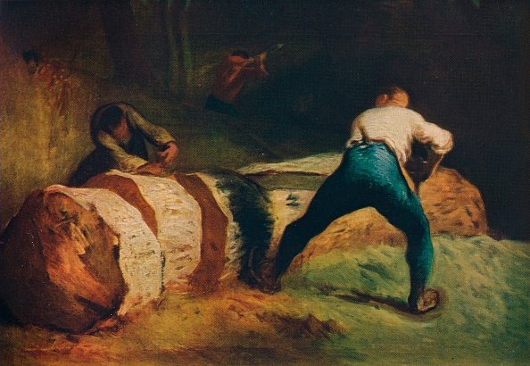 Millet「The Wood Sawyers; Les Scieurs De Long, C1850, (1911)」:写真・画像(0)[壁紙.com]