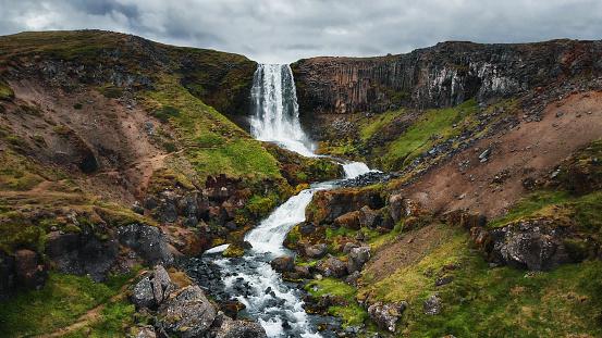 Basalt「Svöðufoss Waterfall, Iceland」:スマホ壁紙(9)