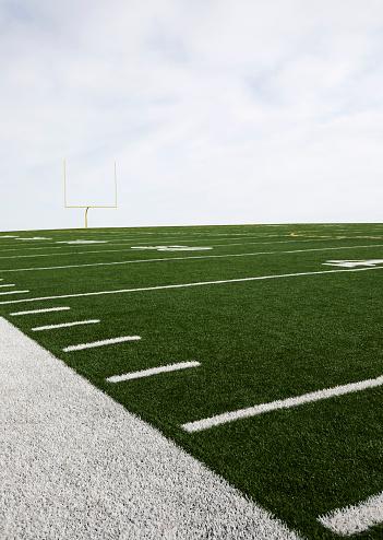 Goal Post「Overcast sky above american football field and goal post」:スマホ壁紙(7)