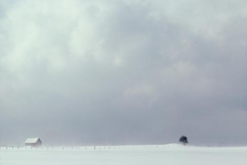 吹雪「Overcast sky with rural farmhouse, Canada」:スマホ壁紙(18)